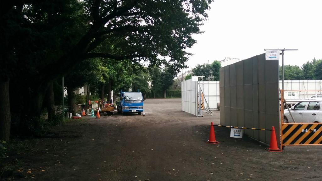 工事車両駐車場①