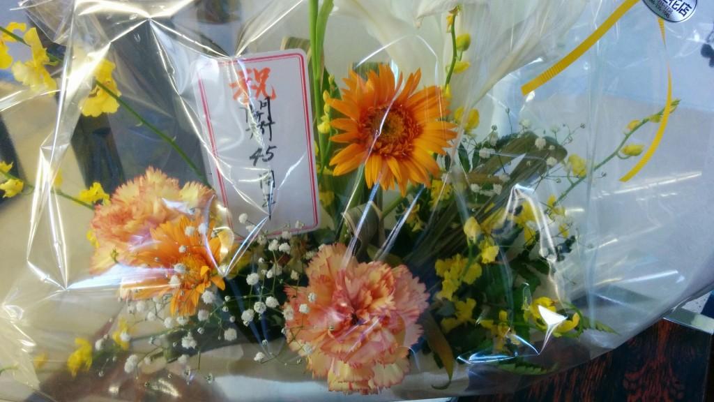 きれいなお花をありがとうございました。