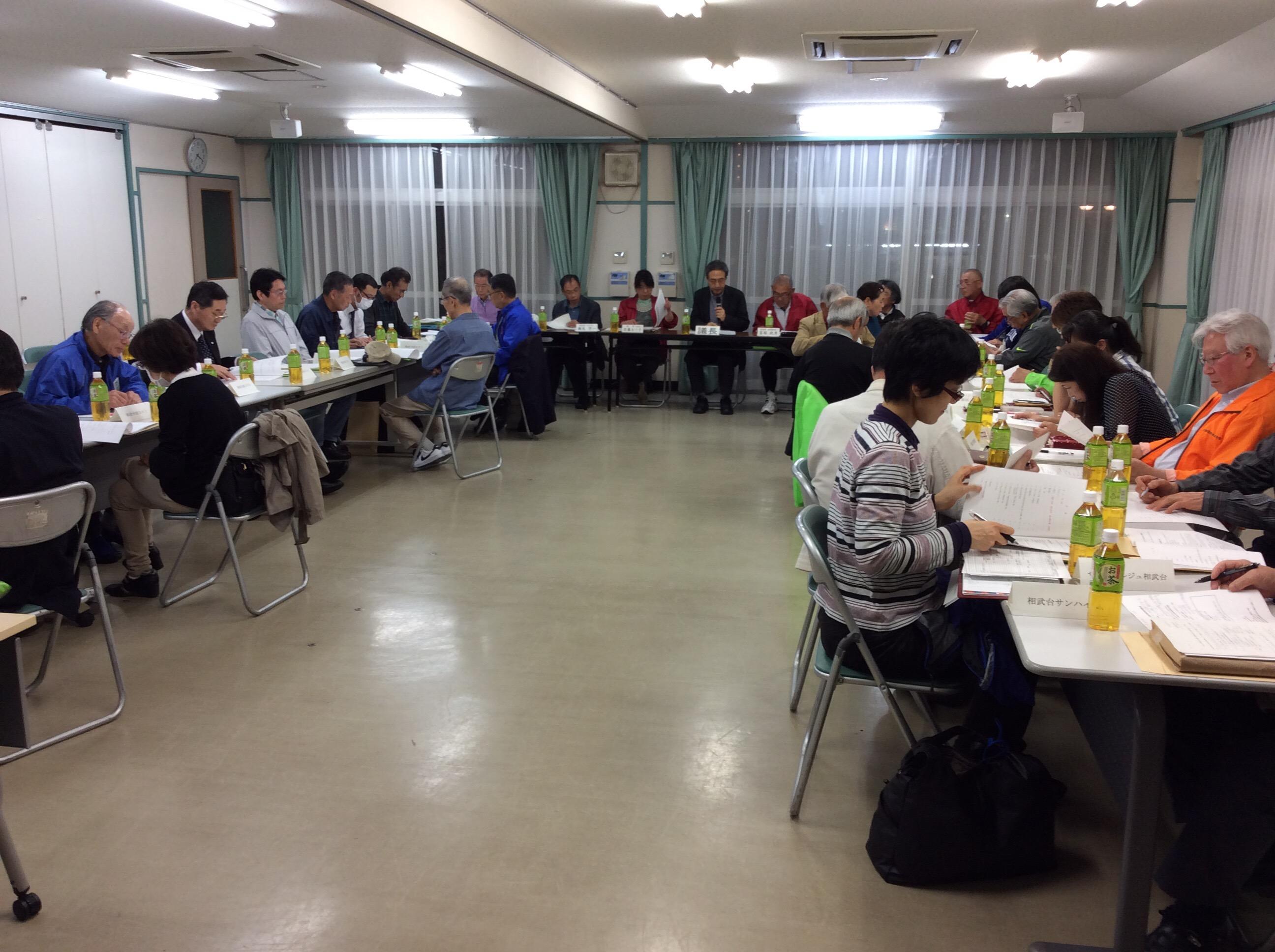 3-1の押野会長を議長に選出し相武台地区連合自治会の総会が始まりました。