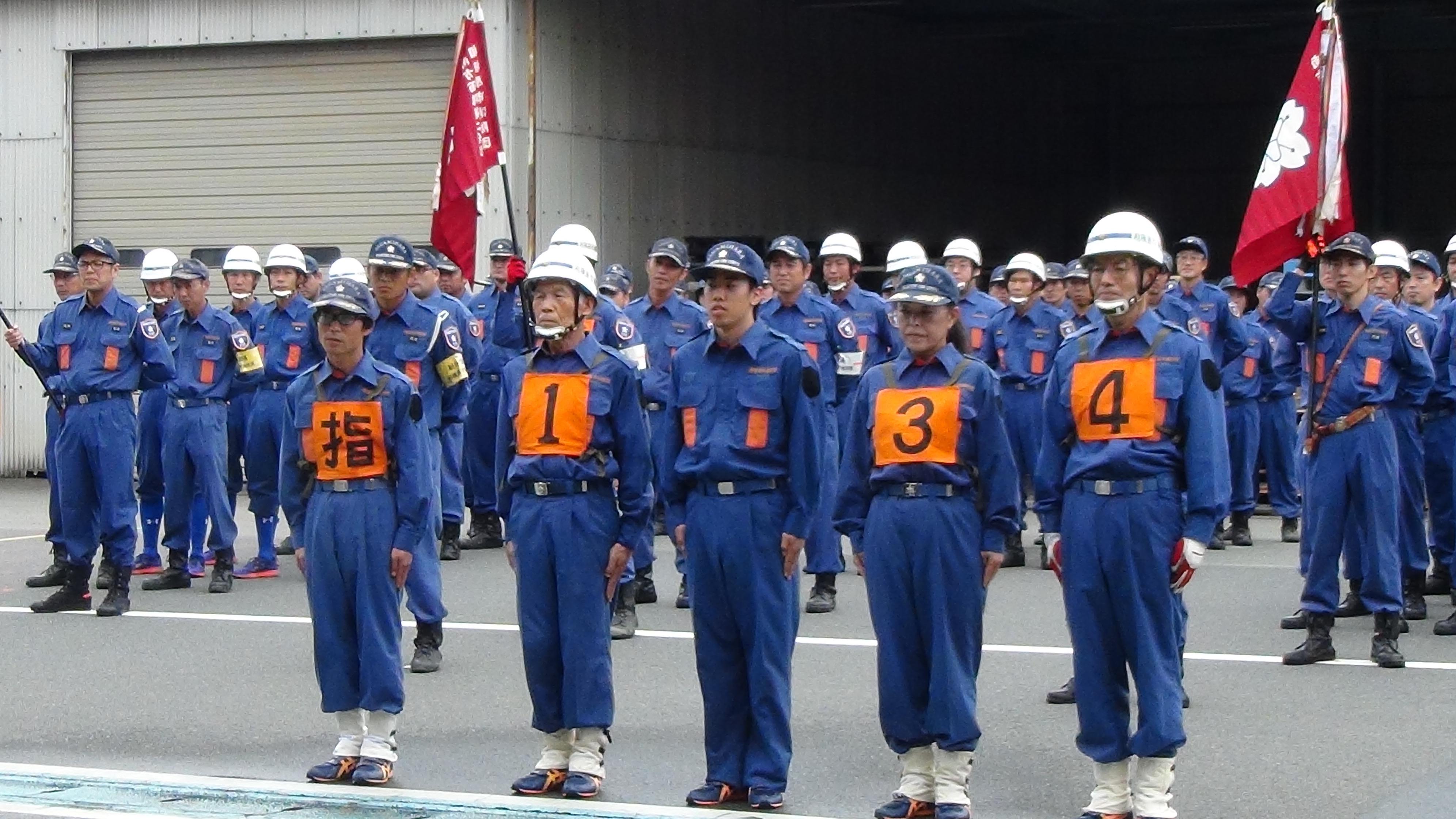 2分団5部の隊員のみなさん(相武台担当)